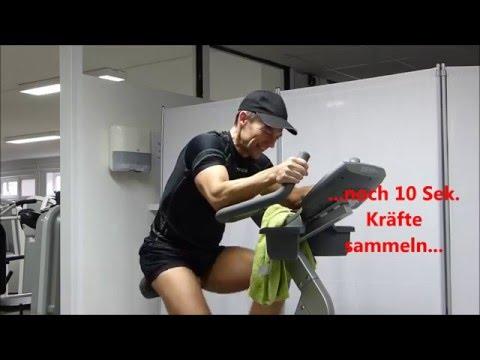 4 Min Fatburning HIIT Bike Workout + Pro Woche 1 kg weniger