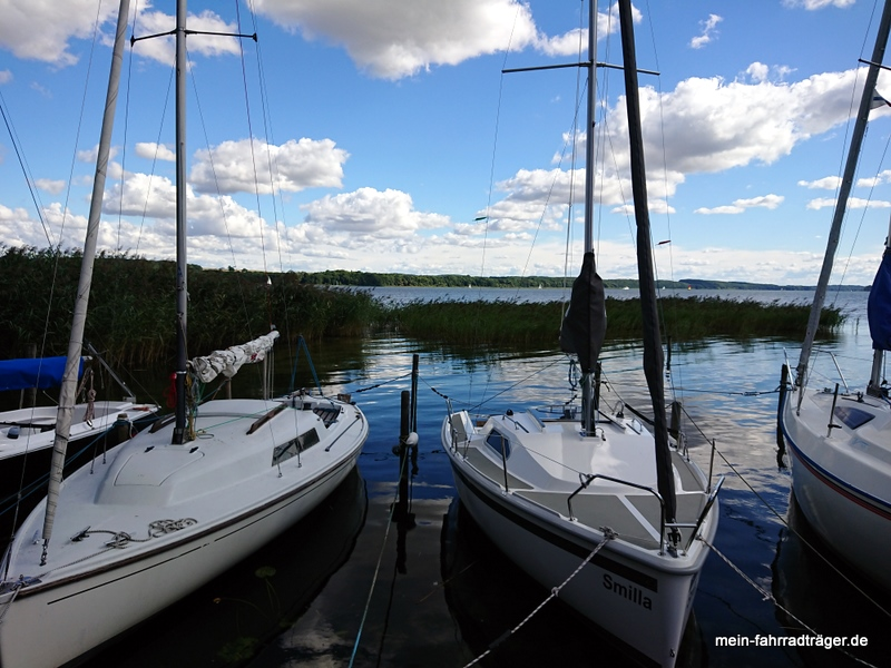 Blick auf Ratzeburger See an Badebucht bei Utecht