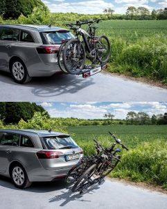 Eufab Fahrradträger Test Abklappmechanismus