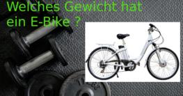 Gewicht E-Bike