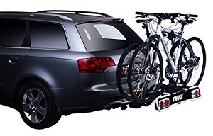 Trekkingrad Fahrradträger Anhängerkupplung montiert